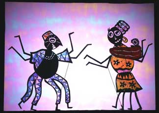 Anansi the Spider - Shadow puppets by Deb Chase